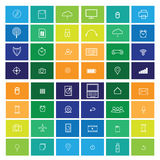 Computer icons flat line windows Stock Image