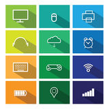 Computer icons flat line windows 1 Shadow Royalty Free Stock Photography