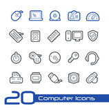 Computer Icons // Line Series Royalty Free Stock Images