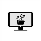 Computer icons music folder. Illustration and graphic image for your logo, icon, and background image Royalty Free Stock Photo