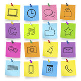 Computer Icons on Note Pad Vector Royalty Free Stock Photo