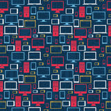 Computer icons seamless pattern Royalty Free Stock Images