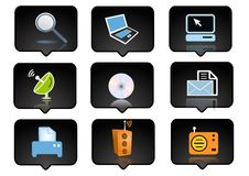 Computer icons set 1 Stock Photos