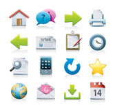 Computer icons set royalty free illustration
