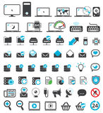 Computer icons set Stock Photography