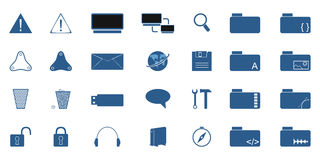 Computer icons set Stock Images
