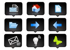 Computer icons set  Royalty Free Stock Images