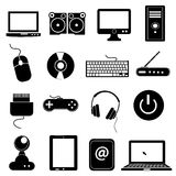 Computer icons set Stock Image