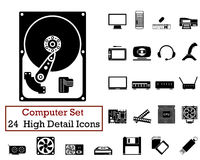 24 Computer Icons Stock Photos