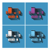 Computer  icons set design , illustration vector Royalty Free Stock Photos