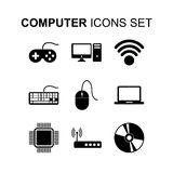 Computer icons set. Flat design vector illustration Stock Photos