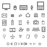 Computer icons set flat Royalty Free Stock Photo