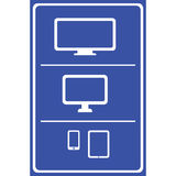 Computer icons set  great for any use. Vector EPS10. Royalty Free Stock Photos