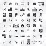 Computer icons set. illustration Royalty Free Stock Images