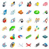 Computer icons set, isometric style Royalty Free Stock Photos