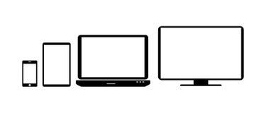 Computer icons set Stock Photo