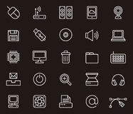 Computer icons set Stock Photo
