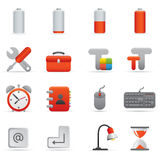 Computer Icons Set | Red Serie 01. Professional set for your website, application, or presentation royalty free illustration
