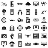 Computer icons set, simple style Stock Photography