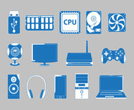 Computer icons. Set of  icons of computer subject Stock Image