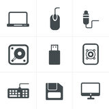 Computer Icons Set, Royalty Free Stock Photos