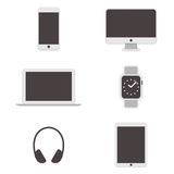 Computer icons set. Vector. Set of computer icons. Vector illustration Stock Photos
