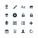 Computer icons set Royalty Free Stock Photos