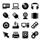 Computer Icons Set on White Background. Vector Stock Photo
