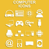 Computer icons. Vector concept illustration for design Royalty Free Stock Photography