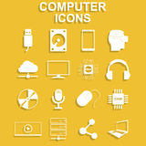 Computer icons. Vector concept illustration for design Royalty Free Stock Photos