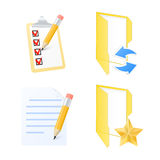 Computer icons. Vector illustration Royalty Free Stock Images