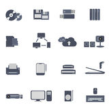 Computer icons vector. Computer icons pc network printer data device Royalty Free Stock Photo
