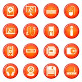 Computer icons vector set Stock Photos