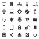 Computer icons on white background Stock Photo