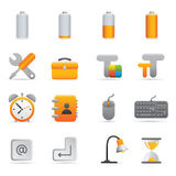 Computer Icons | Yellow 01. Professional set for your website, application, or presentation vector illustration
