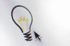 Computer-Ideen-Glühlampe Lizenzfreie Stockfotos