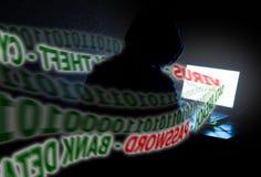 Computer-Identitäts-Diebstahl-gestohlene Daten Lizenzfreies Stockfoto