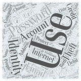 Computer identity theft word cloud concept word cloud concept  background Royalty Free Stock Photo