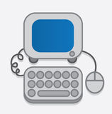 Computer-Ikone gerundet Stockfotos