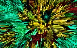 Computer illustration abstract psychedelic colored background mosaic chaotic brush strokes paints brushes of different sizes.  royalty free illustration