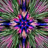 Computer illustration abstract symmetrical psychedelic color background mosaic chaotic brush strokes paints brushes of different s. Izes stock illustration
