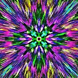 Computer illustration abstract symmetrical psychedelic color background mosaic chaotic brush strokes paints brushes of different s. Computer illustration royalty free illustration