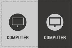 Computer Illustration. A clean and simple computer illustration Royalty Free Stock Photography