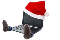 Computer im neuen Jahr Lizenzfreie Stockfotografie