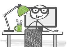Computer im weißen Hintergrund Lizenzfreie Stockfotos