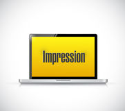 Computer impression sign illustration design Stock Photos