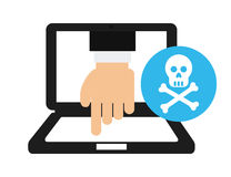Computer infection Royalty Free Stock Image
