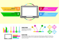 Computer infographic design chart Stock Image