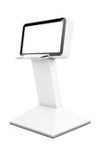 Computer Information LCD Display Stand. 3d Rendering Royalty Free Stock Image