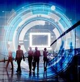 Computer-Informationstechnologie-Verbindungs-Konzept Stockbild